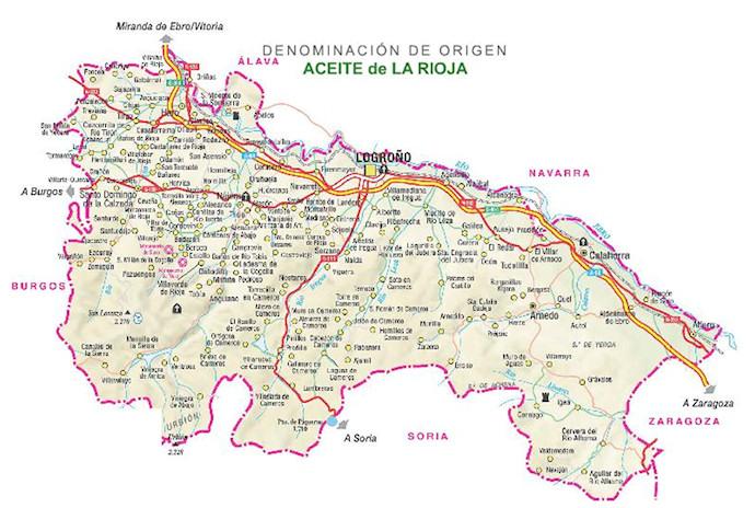 Mapa Denominacion de Origen